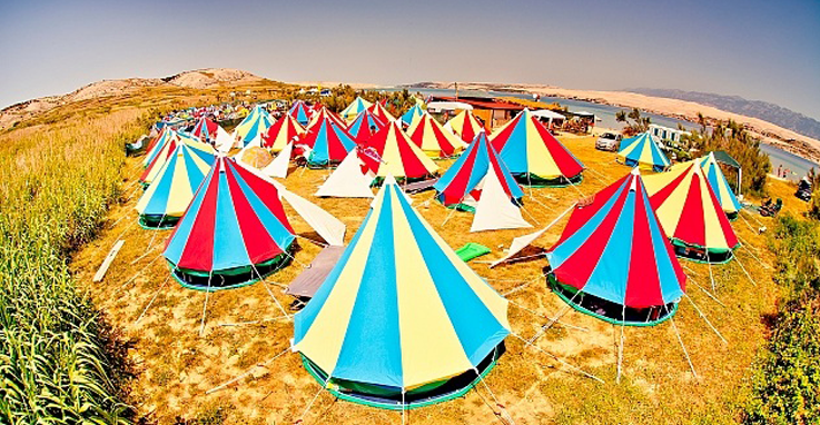 Image result for colourful festival tents